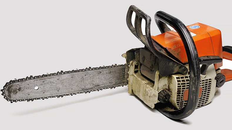 Man attacks wife with ax, kills self with chainsaw