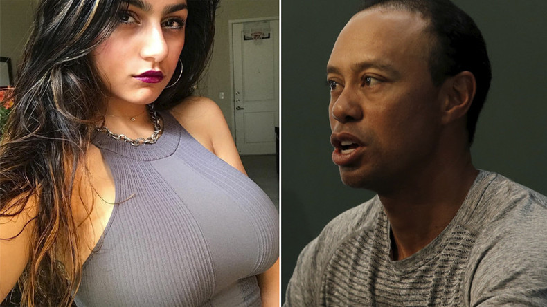 PornHub star Mia Khalifa blasts Tiger Woods' planned comeback, telling him to play golf 'like Trump'