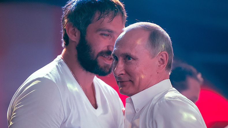 492035297eb NHL star Ovechkin launches  Team Putin  ahead of Russia s presidential race