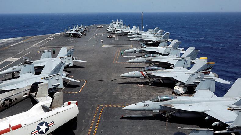 US sailor hit by plane on USS Carl Vinson flight deck
