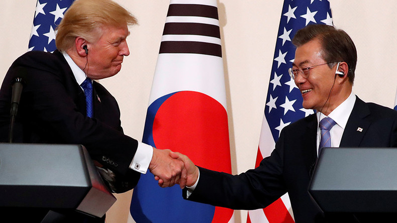 Trump happy with S. Korea buying more US arms as he fuels North nuke scare