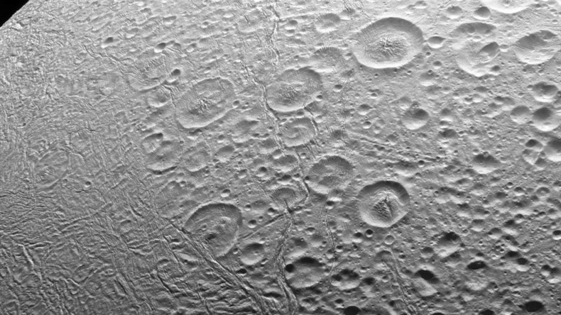 What's bubbling beneath surface of Saturn moon's giant ocean?