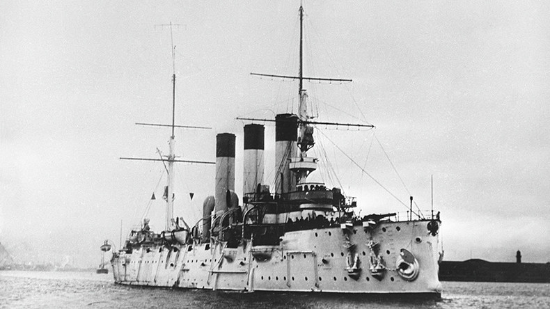 Cruiser Aurora fires at Winter Palace 100 years ago, signals peak of Russian Revolution