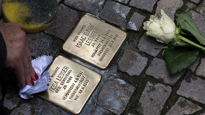Holocaust victims' memorial stones uprooted in Berlin