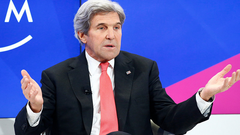 Kerry Caught Blaming Israel in Dubai Conference