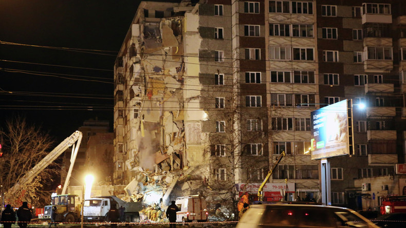 9-story block partially collapses in Russia's Urals, killing 6 (VIDEOS)