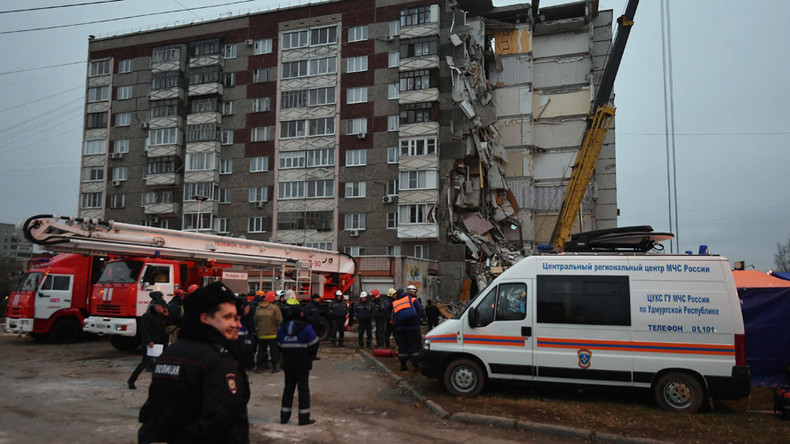 Dramatic video catches moment that 9-story block exploded in Russia's Urals