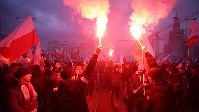 Thousands join far-right march in Warsaw on Poland's Independence Day (PHOTOS, VIDEOS)