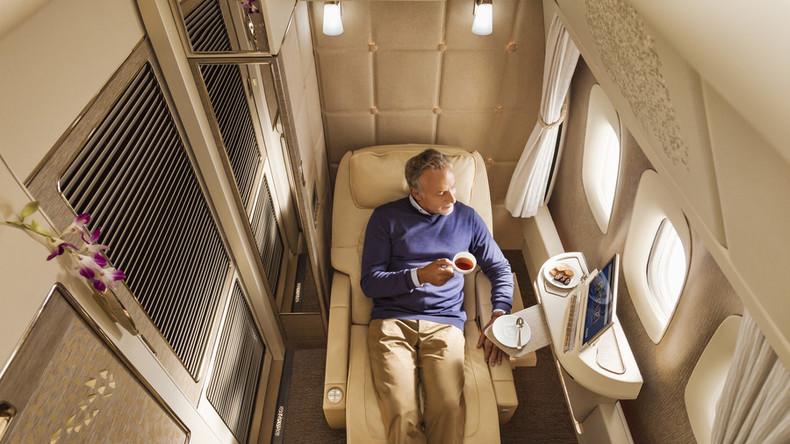 'Zero-gravity seats & moisturizing sleepsuits': Emirates unveils luxury 1st class cabins