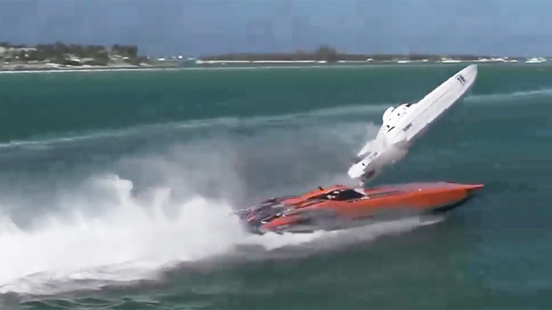 Dramatic footage shows powerboat flipping over during Key West race (VIDEO)