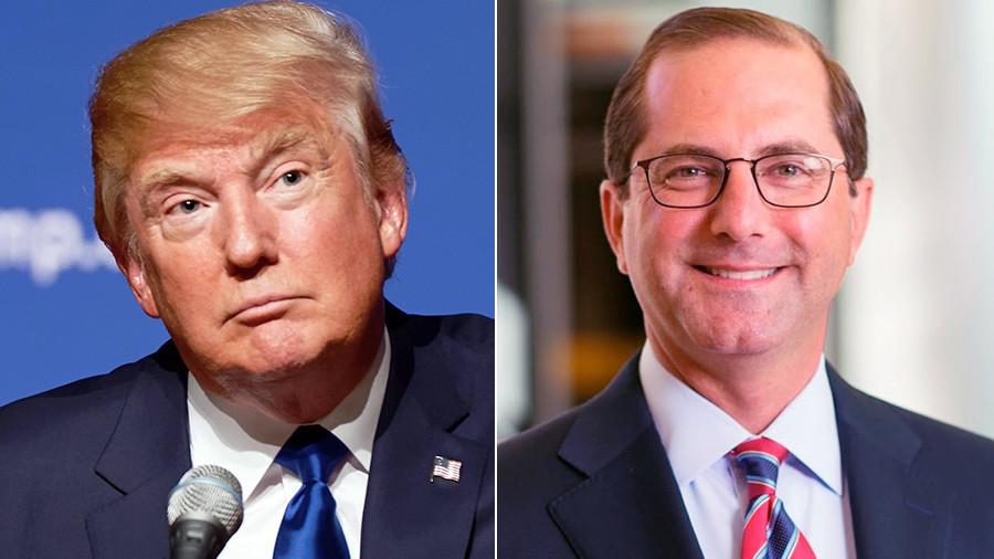 Trump names former pharma boss to lead Health & Human Services