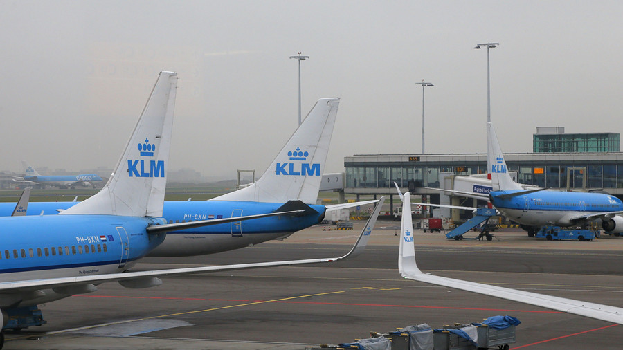 Shock horror: Passenger plane hit by lightning in skies above Amsterdam (VIDEO)