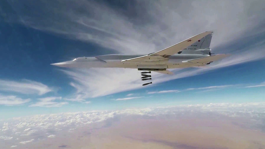 Six Russian long-range bombers strike ISIS targets in southeast Syria – military