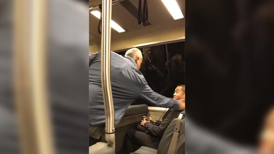 'I hate you, Chinese n****r!' Racist passenger attacks Asian man on SF train (VIDEO)