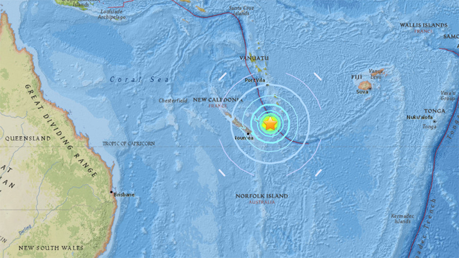 Tsunami possible after 7.0 quake  strikes near France's New Caledonia