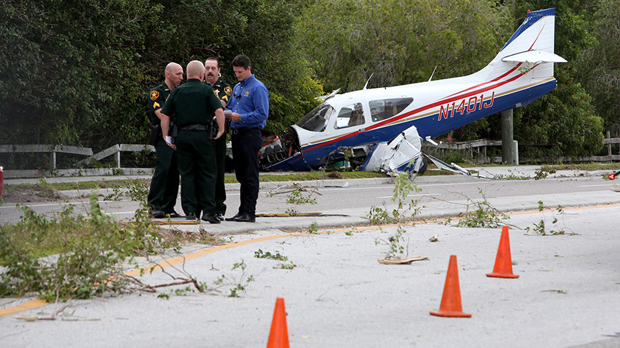 Cameras Catch Plane's Crash Landing in Central Florida