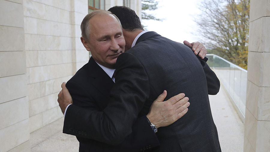 Warm embrace: Assad in surprise Putin meeting ahead of Moscow's talks with Turkey, Iran