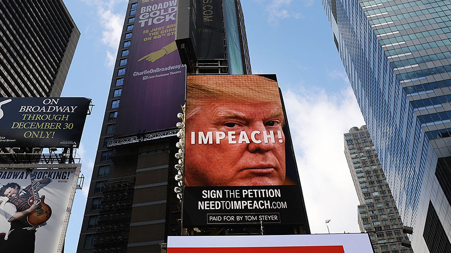 'Impeach Trump' billboards go up in Times Square