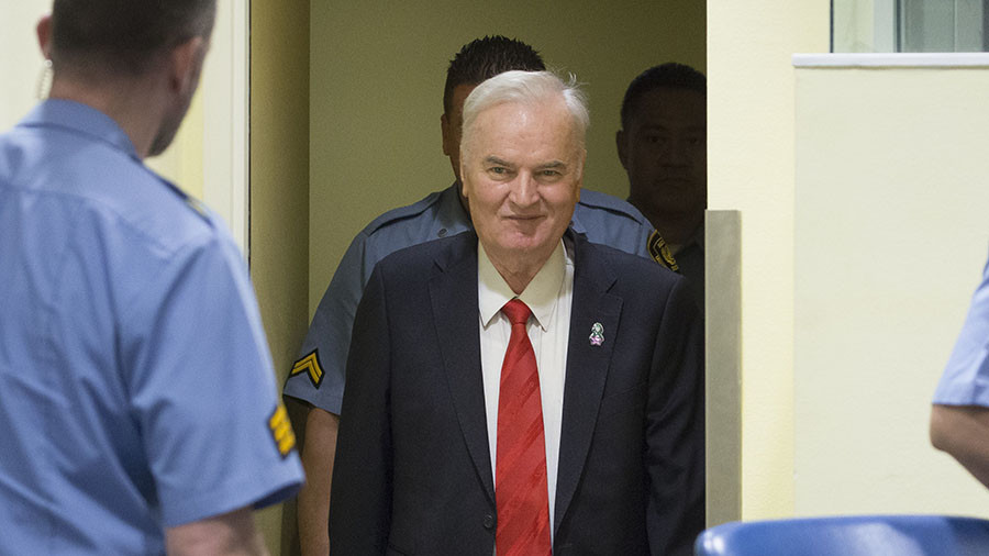 'It is NATO court!' Former Bosnian Serb commander Mladic slams UN court that gave him life sentence