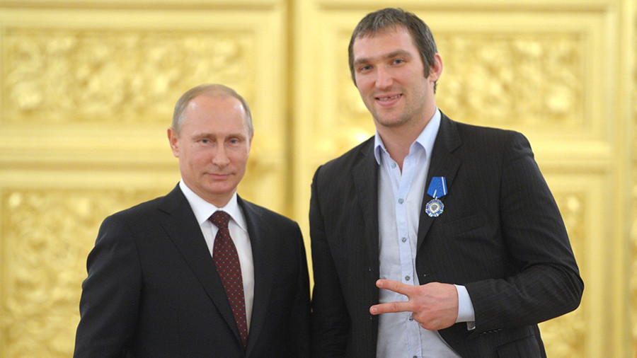 NHL star Ovechkin invites you to join the #Putinteam as website goes up