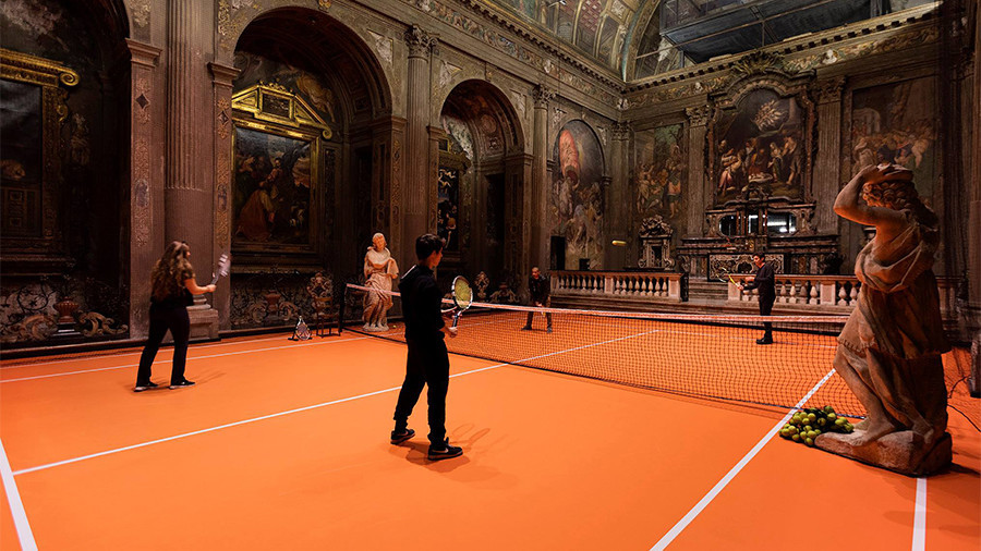 'Everyone should do this'? Visitors play tennis in 16c Italian church as part of art project (VIDEO)