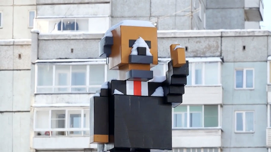 Minecraft-style Lenin monument unveiled in Siberian city (VIDEO)