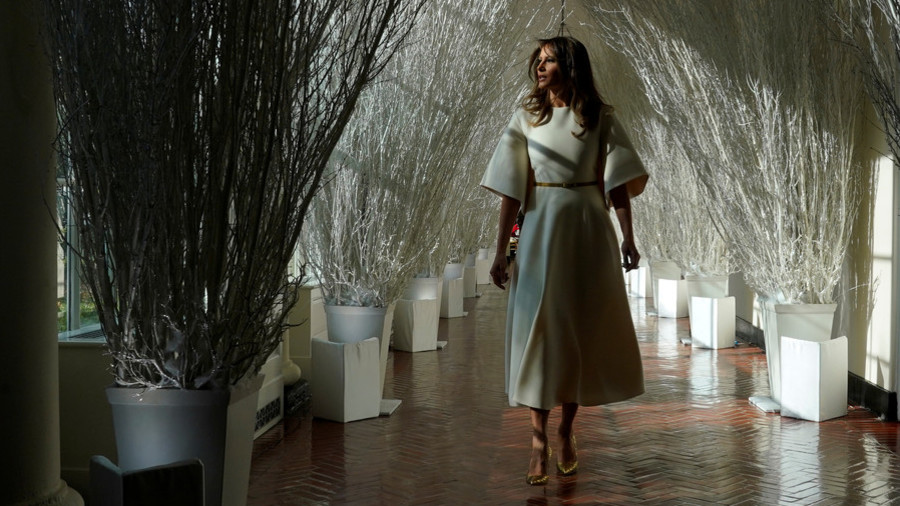 melania trumps christmas vision is more frightening than festive photo video