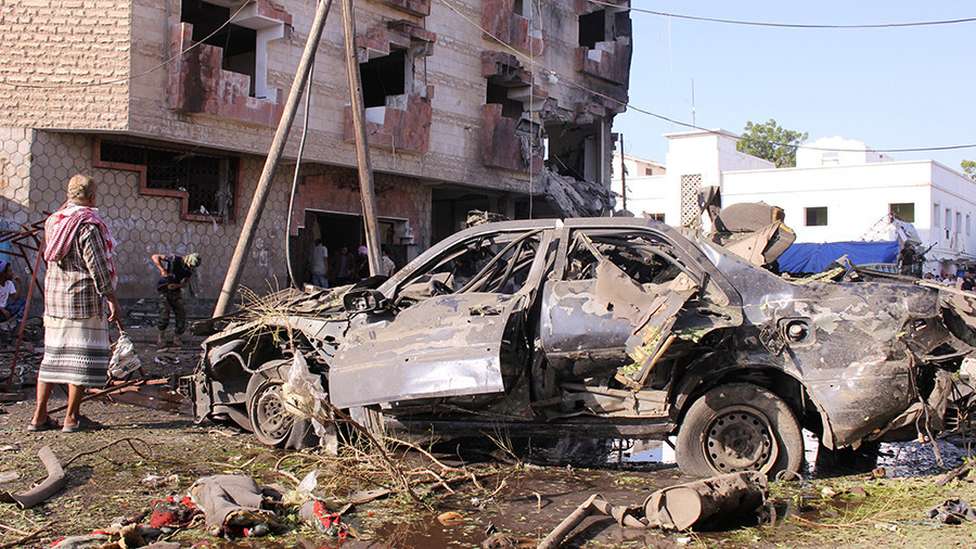 Car bomb hits finance ministry offices in Aden, Yemen, casualties reported (PHOTOS)