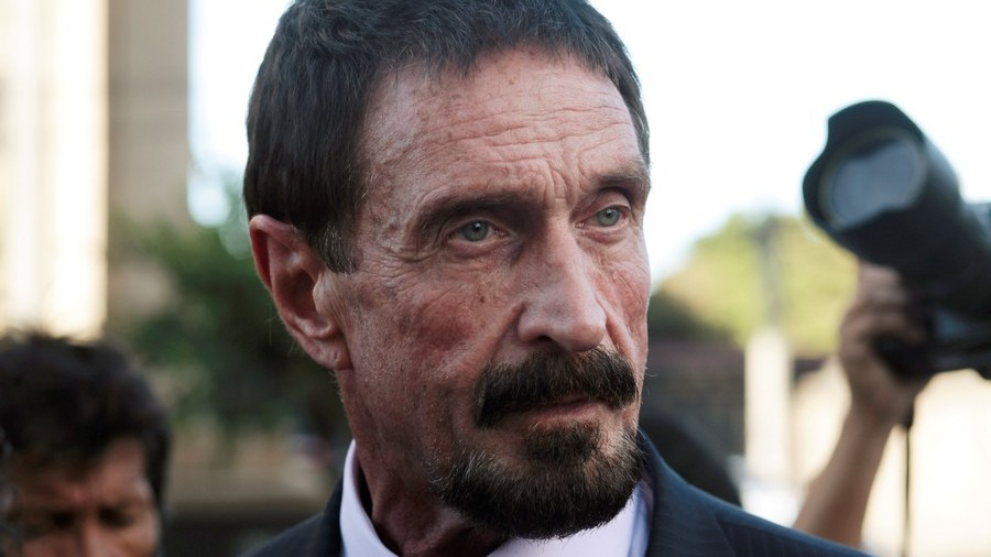 $1mn by 2020: John McAfee will still 'eat his own d*ck' if he's wrong about Bitcoin