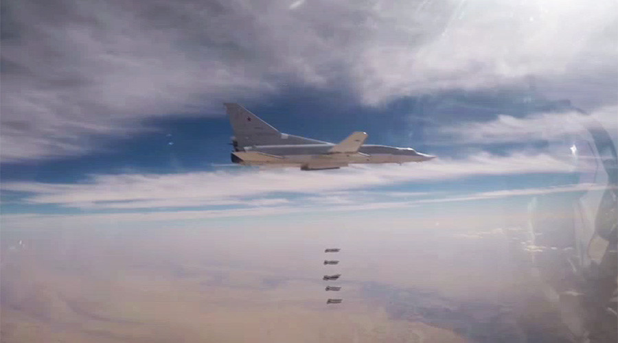 Russian long-range bombers destroy militant outposts, depots in Syria (VIDEO)