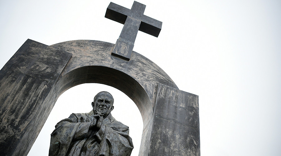 40K sign petition to 'defend the cross' on Polish pope's statue in France