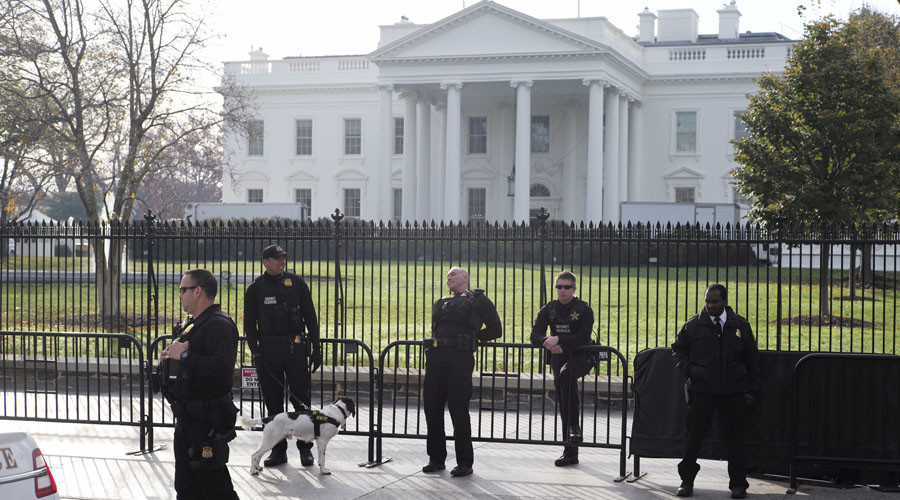 Van driver detained after being found near Trump's motorcade with a gun
