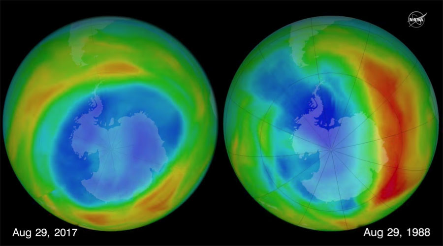 Hole in ozone layer shrank to smallest size since 1988 – NASA (VIDEO)
