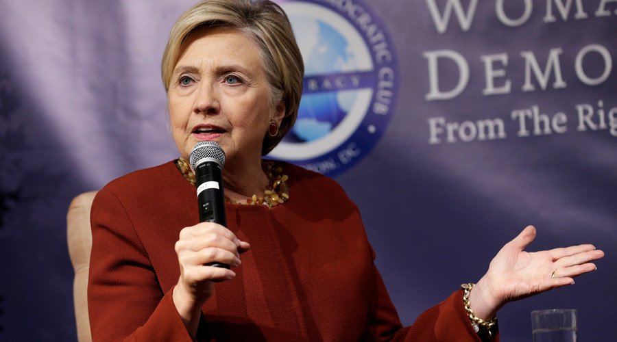 Assange posts meme of ax-wielding Clinton over DNC deal revelations (PHOTO)