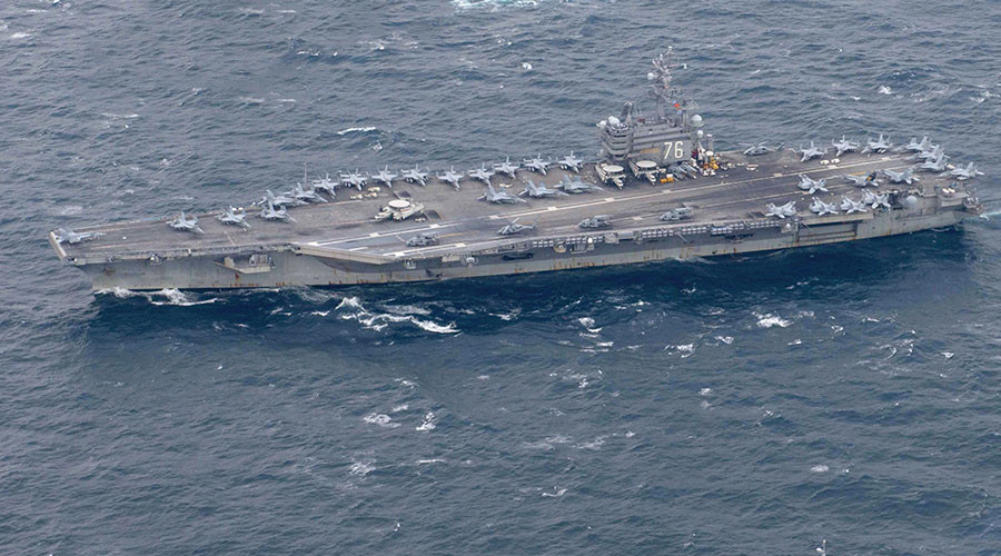 3 US aircraft carriers to stage drills in W. Pacific as Trump visits Asia – officials