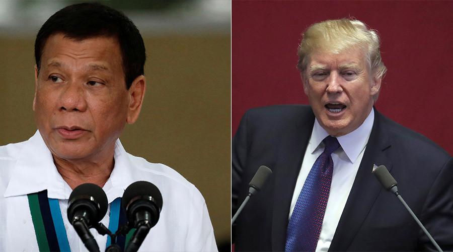 Filipino protesters burn effigy of 'America-loving devil' Duterte (VIDEO)