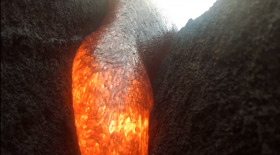 Camera consumed by lava returns footage from inside the molten flow (VIDEO)