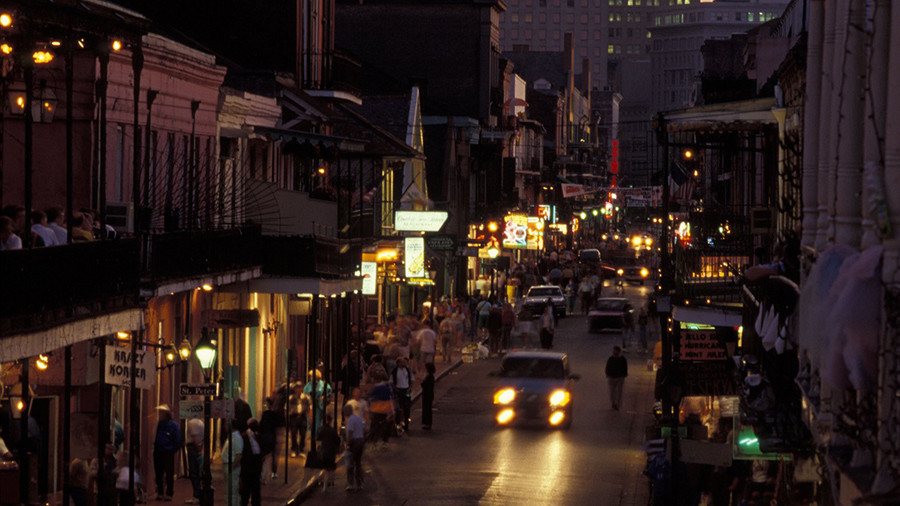 New Orleans, in the heat of the night