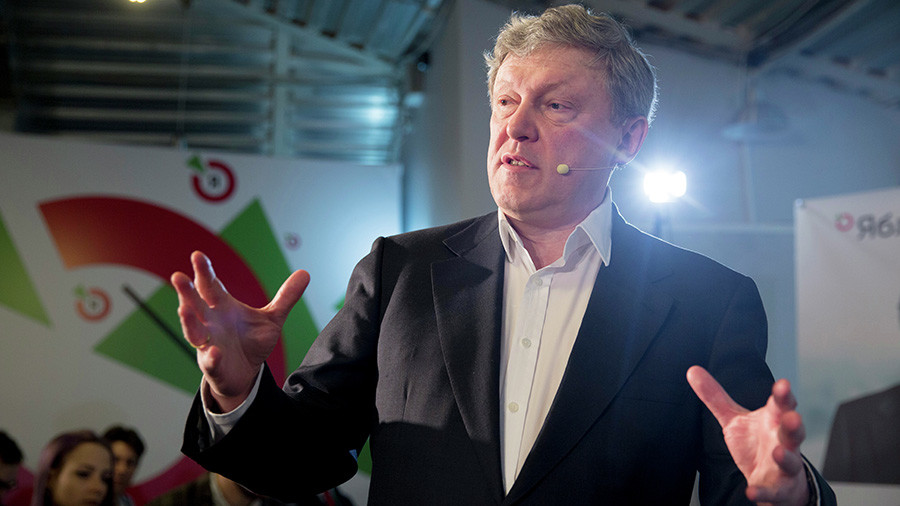 Liberal presidential hopeful Yavlinsky says victory is not a priority