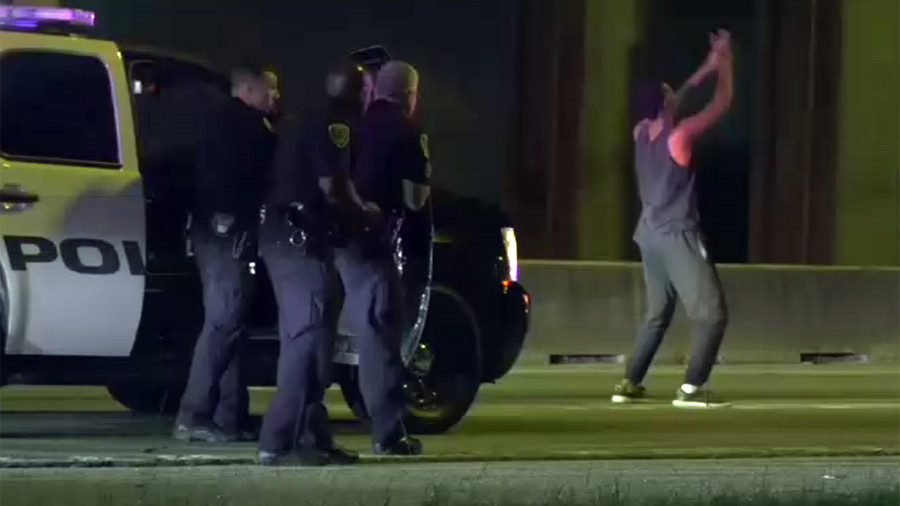 Baby born on car hood after father leads police on high-speed chase