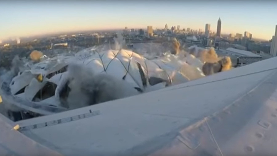 Iconic US stadium survives failed controlled demolition (VIDEOS)