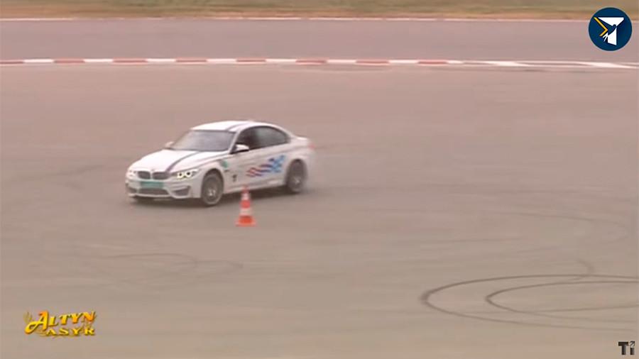 Turkmen drift: President filmed burning tires at racetrack in Turkmenistan (VIDEO)