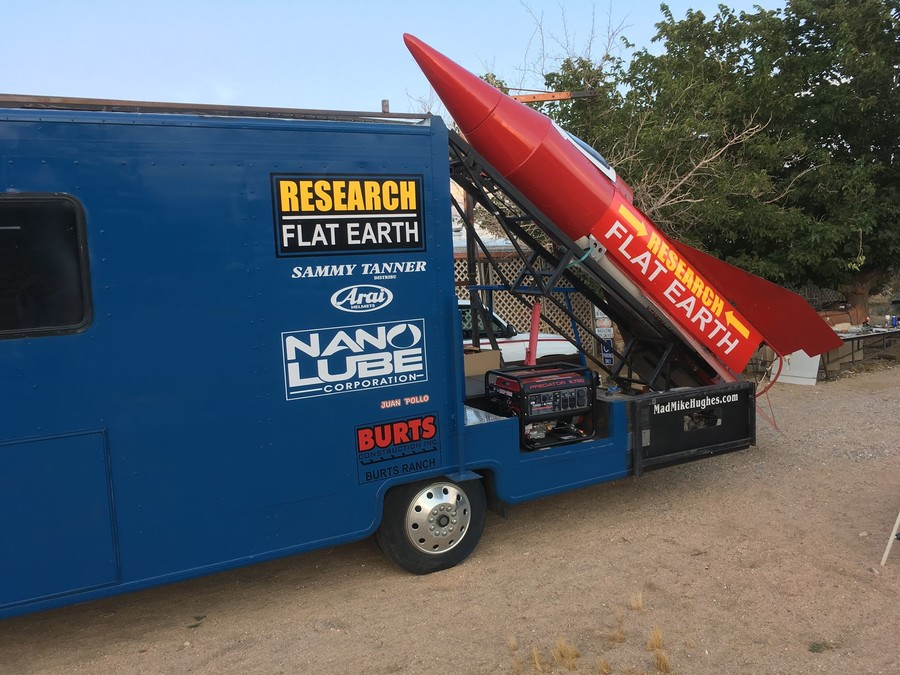 'The real rocket man': Flat-Earther to launch himself into orbit from ghost town