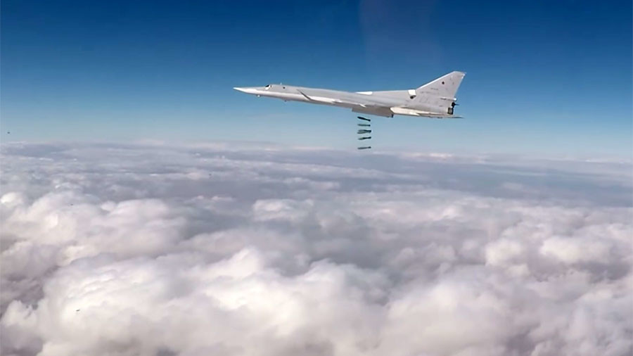 Russian Tu-22M3 strategic bombers annihilate ISIS targets in Syria for 4th day in a row (VIDEOS)