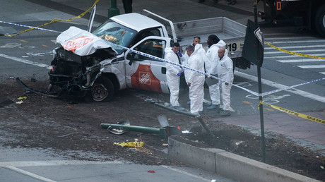 Aftermath of Manhattan vehicle attack