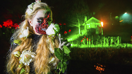 Zombie riot? Clashes with police turn festive celebrations into Halloween horror in Germany
