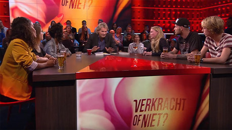 Presenters of Rape or Not go on Dutch TV to discuss the program ahead of broadcast © DWDD