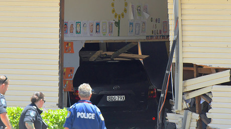 Two 8yo children killed, many injured after car plows into classroom in Australia