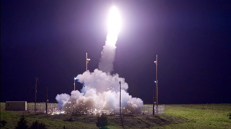FILE PHOTO: A Terminal High Altitude Area Defense (THAAD) interceptor © Missile Defense Agency