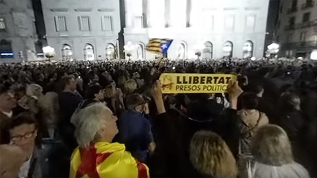 Barcelona protests 360: Around 20,000 rally for Catalan independence
